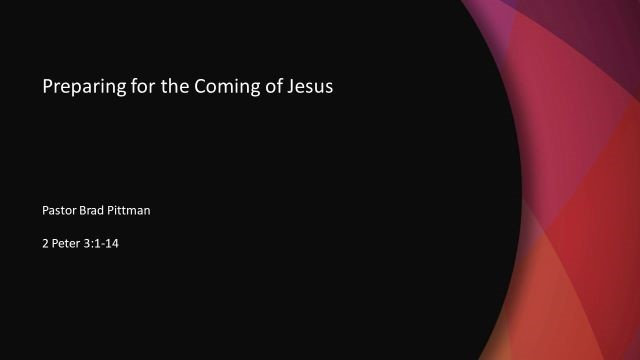 Preparing for the Coming of Jesus