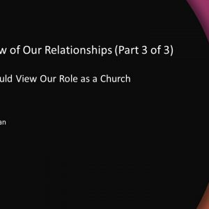 A Right View of Our Relationships (Part 3 of 3)