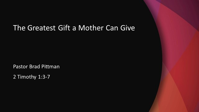 The Greatest Gift a Mother Can Give